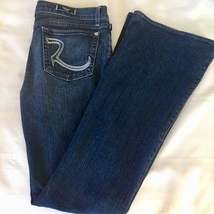 Rock and Republic Roth Mid Rise Flare Jeans Sz 30